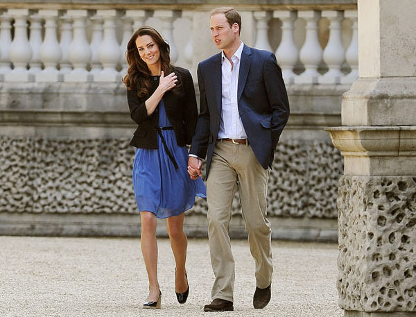 LONDON, ENGLAND - APRIL 30:  Prince William, Duke of Cambridge and Catherine, Duchess of Cambridge walk hand in hand from Buckingham Palace the day after their wedding to a waiting helicopter as they leave for a secret honeymoon location, on April 30, 2011 in London, England. The marriage of Prince William and Catherine Middleton was led by the Archbishop of Canterbury and was attended by 1900 guests, including foreign Royal family members and heads of state. Thousands of well-wishers from around the world have also flocked to London to witness the spectacle and pageantry of the Royal Wedding. (Photo by John Stillwell - WPA Pool/Getty Images) *** Local Caption *** Catherine, Duchess of Cambridge;Prince William, Duke of Cambridge;