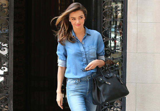 miranda kerr total look denim
