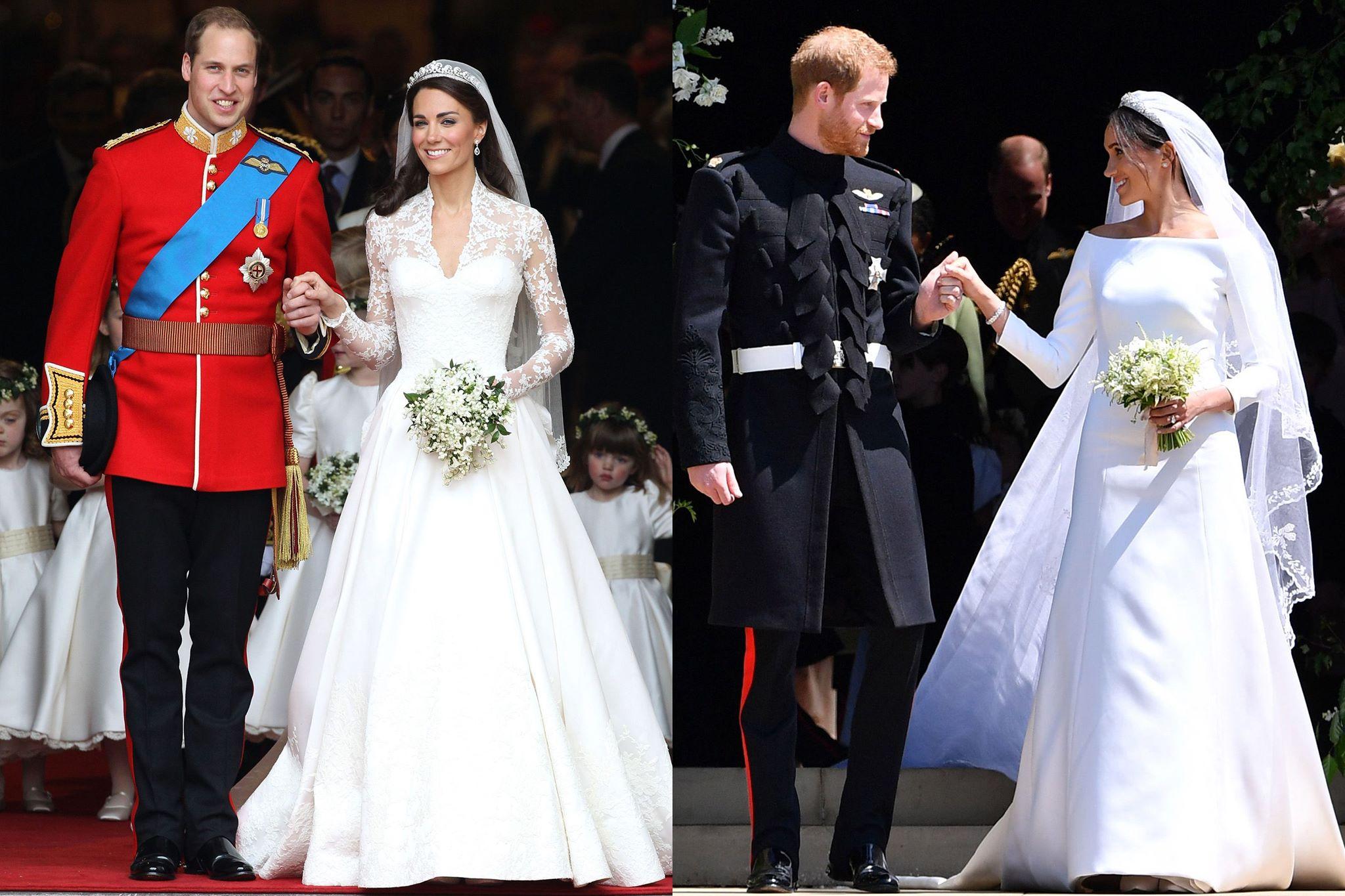 La robe de mariée de Meghan Markle vs Kate Middleton