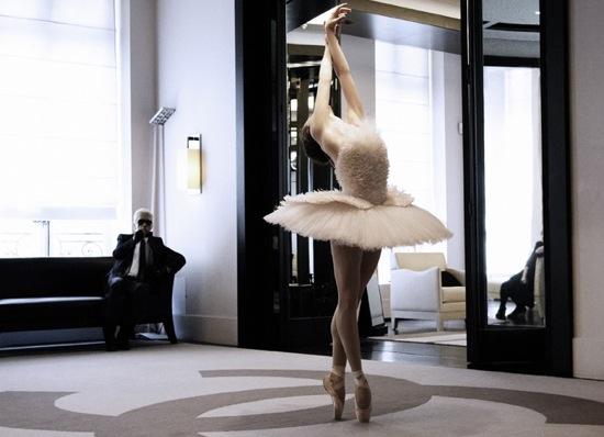 Karl-Lagerfeld-Creates-Custom-Tutu