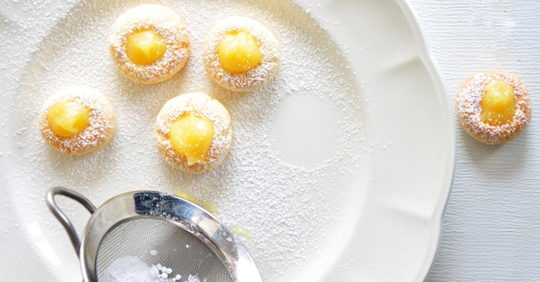 Biscuits craquelés citron lemon curd