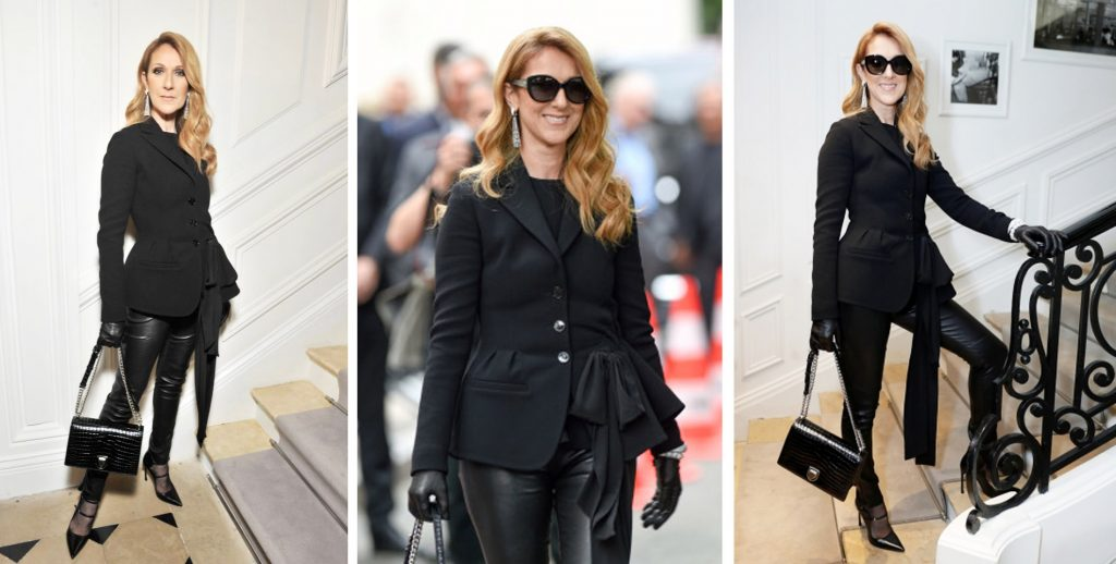Celine Dion Dior haute couture fashion week
