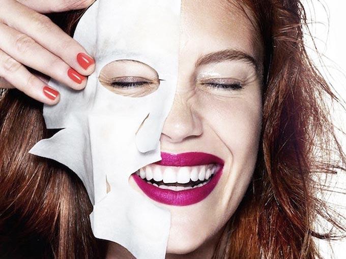 Masque soin en tissu beauté pour le visage