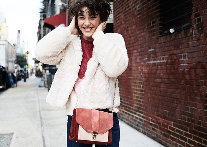 manteau hiver et sac sezane