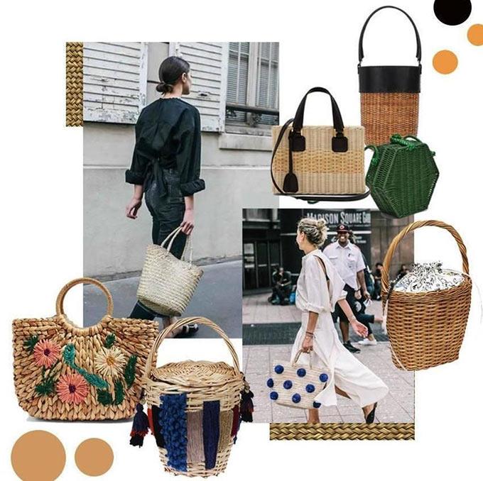 sacs et paniers en osier toutes les tendances de l'été