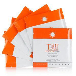 lingettes de poche autobronzantes Tan Towel