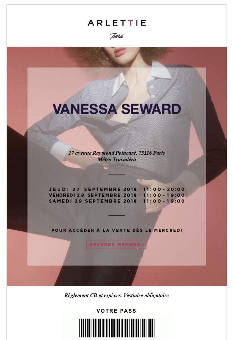 vente privée Vanessa Seward