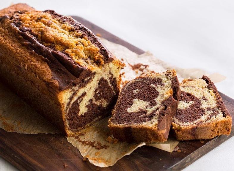 Un gâteau marbré