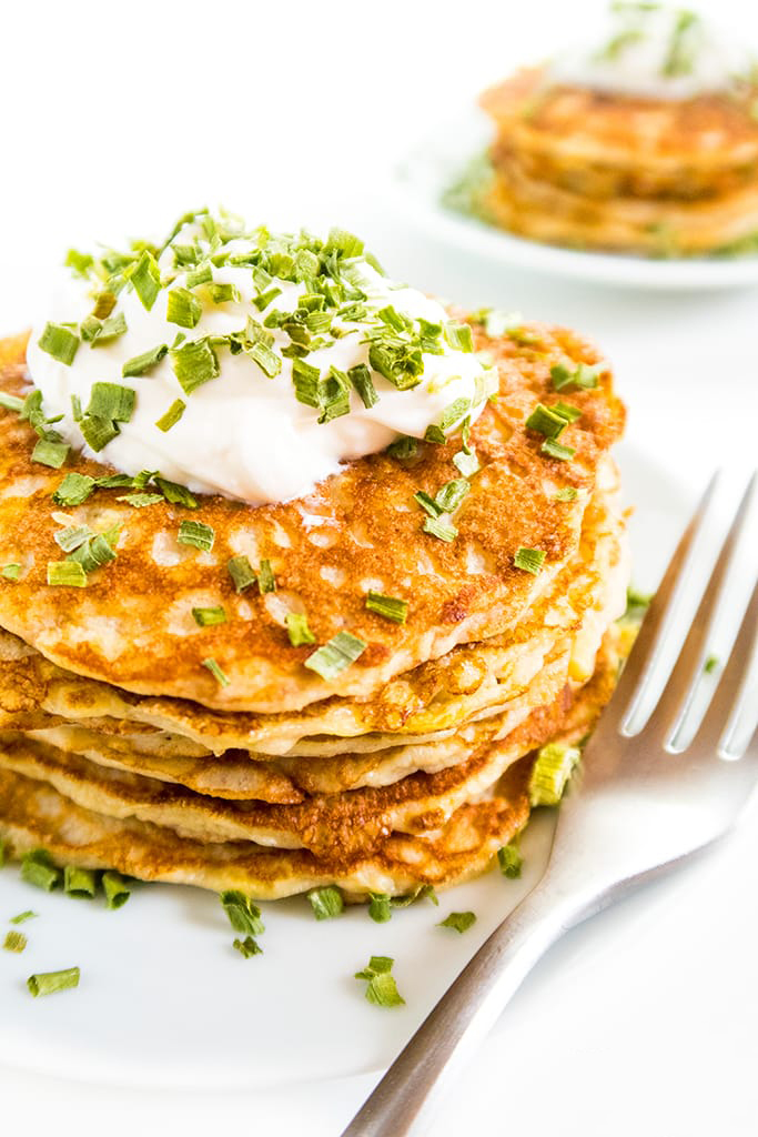 pancakes courgettes
